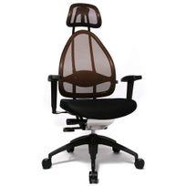 Topstar - Siège de bureau ergonomique Open Art 2010 Edition maille marron / noir