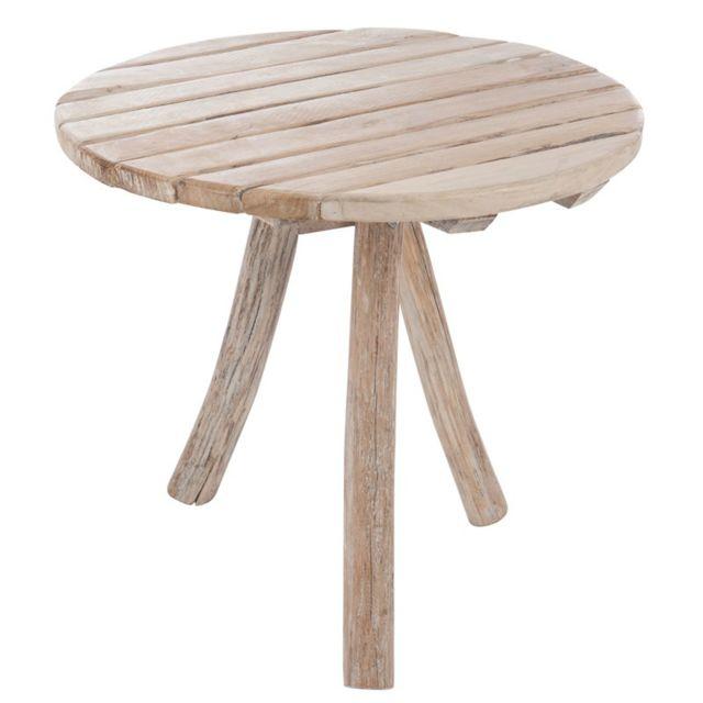 Tousmesmeubles Table d'appoint Bois - Oscar