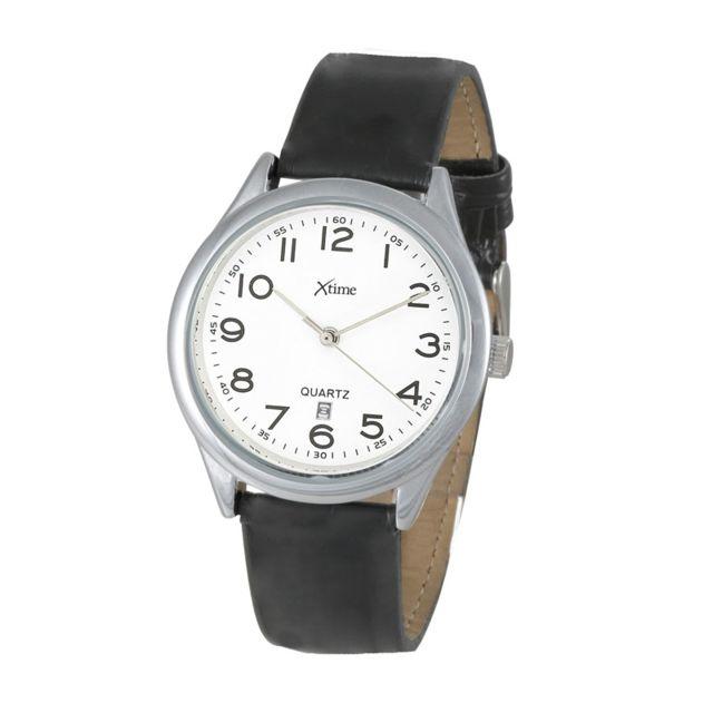 Montre homme analogique bracelet cuir