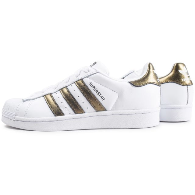 Adidas originals Superstar W Blanche Et Or Femme pas