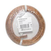 Electraline - Câble 2x1,5mm² Hi-Fi 03VH-H transparent, de 5 à 25 mètres ou au mètre 10 mètres