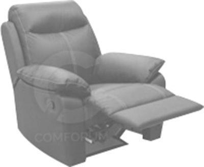 Comforium fauteuil d' 1 place avec relax électrique en cuir coloris gris foncé