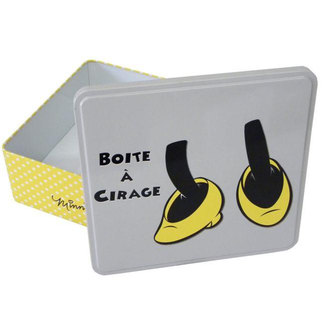 Easy Licences - Boite Minnie grand modèle Gris jaune - pas cher Achat    Vente Boîte de rangement - RueDuCommerce ed2cd6bd588d