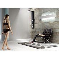Desineo - Colonne de douche balnéo en Aluminium noir 135X25cm A201