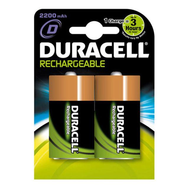 DURACELL - duracell - lot de 2 piles alcaline type hr20 1.2 volts  rechargeables - 32659 9af88f46eb46