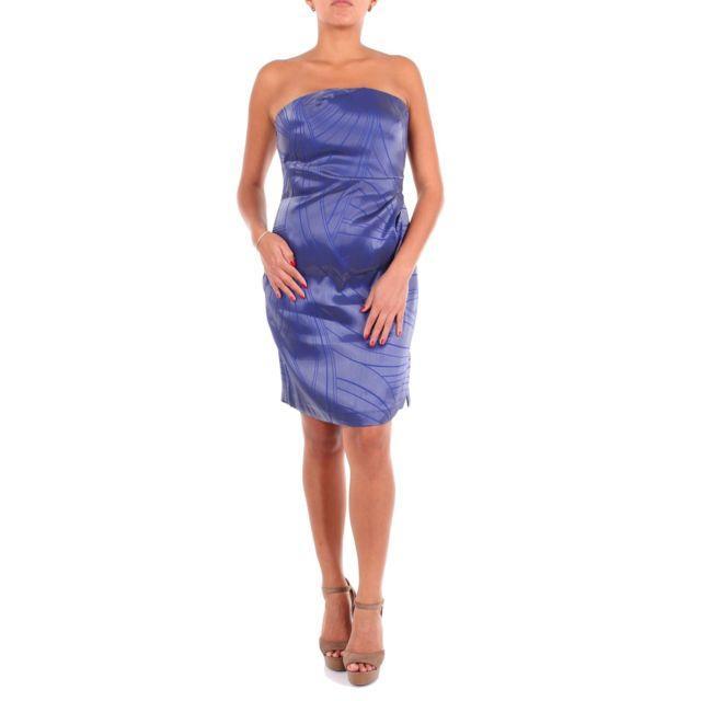Armani Ea7 Emporio Armani Femme 2NA3ZT22127727 Bleu Viscose Robe