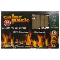 Calor Pack - allume feu allumette 100% naturels x26 - 726allumcalorrp