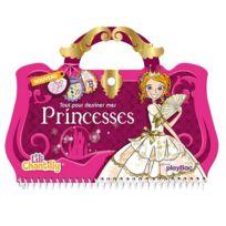 Playbac - Carnet créatif Lili Chantilly : Tout pour dessiner mes princesses