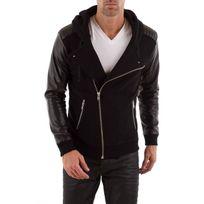Seven Tees - Pull/Sweatshirt Poks 2 cuir black