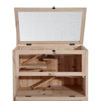 PAWHUT - Cage pour hamsters souris petits rongeurs multi-niveaux 5 étages 10 plateformes bois de pin 60 x 40 x 120 cm neuf 83