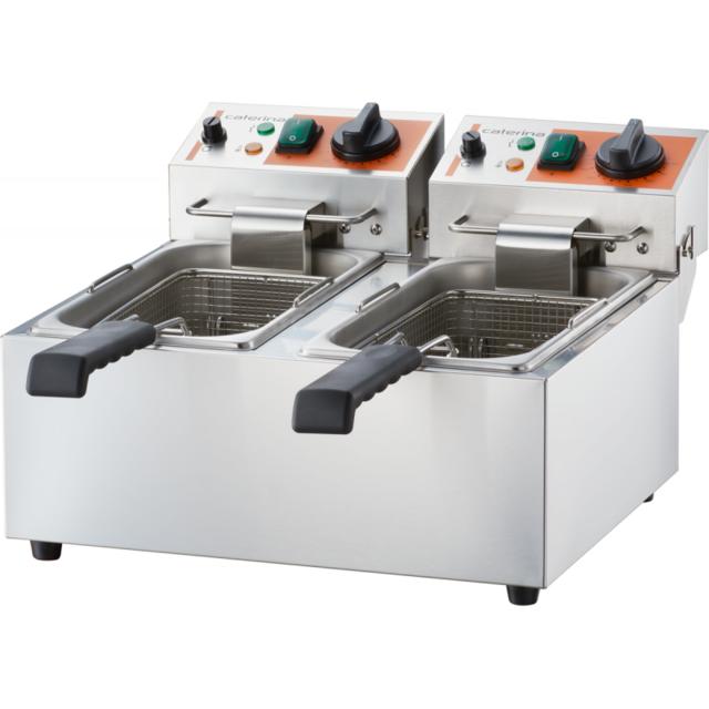 Materiel Chr Pro Friteuse Inox Double 2 x 4 à 2 x 5 L - 2 x 2 kW - Stalgast - 2 x 4.0 l