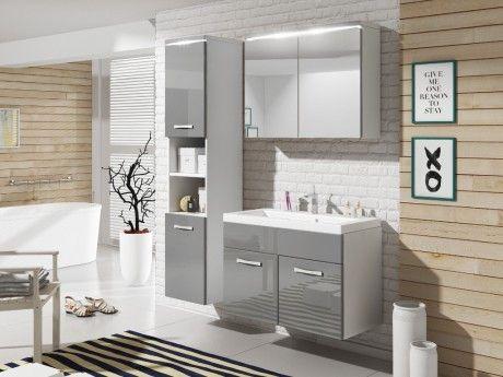 Shower Design Ensemble Nina à leds - meubles de salle de bain - Laqué gris
