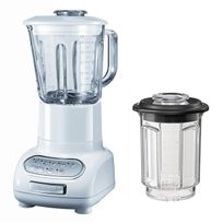 KITCHENAID - blender/mixeur 1,5l 550w avec bol en verre + bol 0.75l - 5ksb5553 ewh