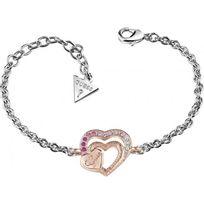 Guess - Bracelet Bijoux Be.My.Valentine Ubb83092-S - Bracelet Double Cœur Femme