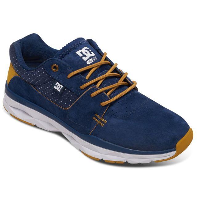 Dc - Shoes Player Se Chaussure Homme - Taille 39 - Bleu - pas cher Achat    Vente Baskets homme - RueDuCommerce 64e9137be355