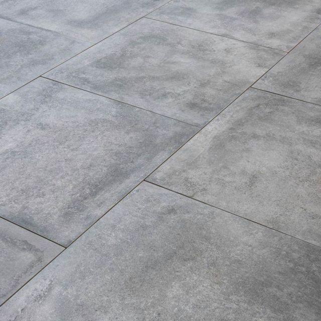 Carrelage Exterieur Spécial Plots Terrasse 80 X 80 Cm Gris Ardoise 1 Dalle 80x80 0 64m
