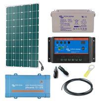 Myshop-solaire - Kit solaire 145w autonome mono + convertisseur 230v/375va