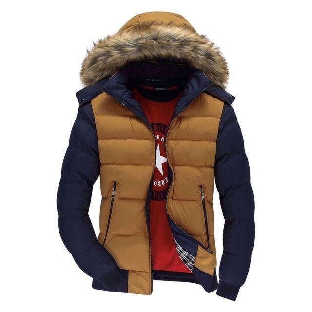 new products 564d8 b7597 vestes-et-gilets-jaune-bleu -hommes-hiver-epaississement-mode-loisirs-slim-a.jpg