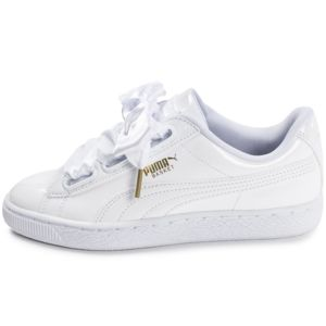 puma basket heart patent blanche pas cher achat vente baskets femme rueducommerce. Black Bedroom Furniture Sets. Home Design Ideas
