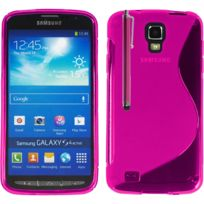 Vcomp - Housse Etui Coque souple silicone gel motif S-line pour Samsung Galaxy S4 Active I9295/ I537 Lte + stylet - Rose