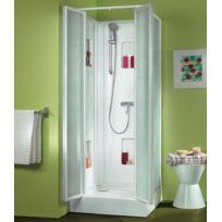 Leda - Cabine de douche Izi Box carré verre transparent 80 x 80 cm - L11IZ0873