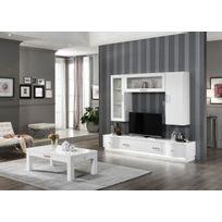 Meuble salon blanc laque - catalogue 2019 - [RueDuCommerce - Carrefour]