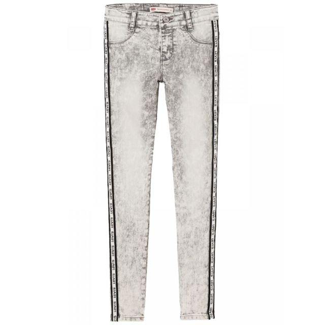 photos officielles 469d0 9cb8f Levi'S - Jean 710 gris super skinny toile denim ado fille ...