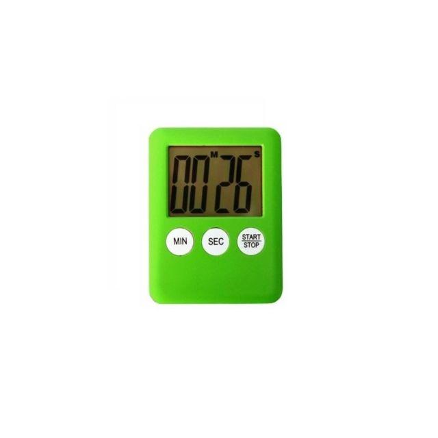 Minuteur électronique de cuisine aimanté - Vert