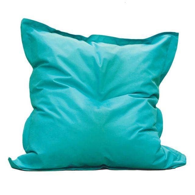 Altobuy Square - Pouf d'Extérieur Tissu Coloris Bleu