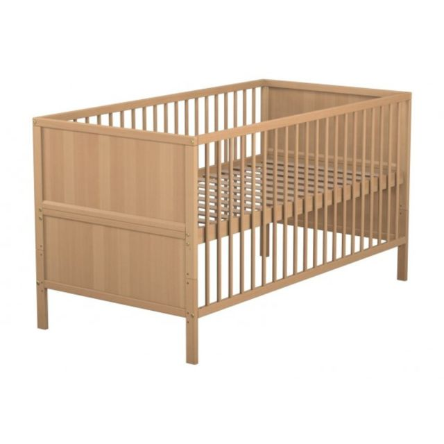 TERRE DE NUIT Lit bébé évolutif bois naturel 70x140