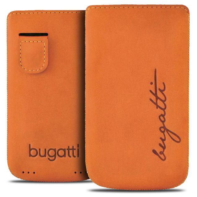 Bugatti Italy - Etui Pouch Perfect Velvety  Cuir Véritable  Mandarine - Taille  M 0a532173618