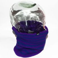 Elm - Cache cou, cache nez, Striped reversible violet et bleu