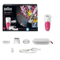 BRAUN - Epilateur Silk Epil Wet & Dry Gift Edition - 5/547- Blanc