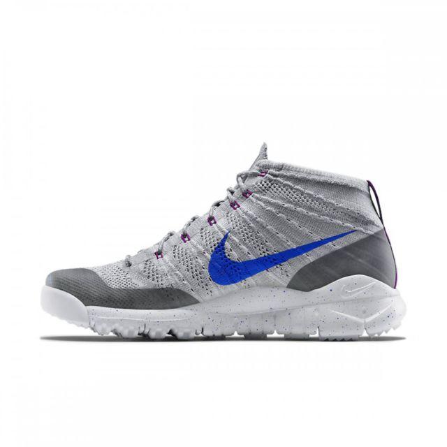 Basket Nike Flyknit Trainer Chukka 625009 004 Gris Achat