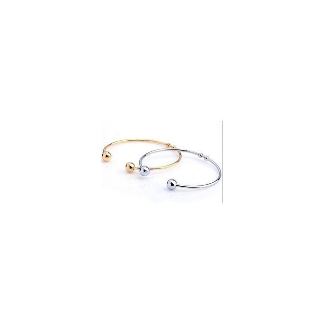 aa91b8c0b5fce Alpexe - Lot de 2 bracelets de perles rondes pour homme de couleur argent    doré Acier - pas cher Achat   Vente Bracelets - RueDuCommerce