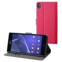 Made For Xperia - Mfx Etui Wallet Folio Rose Pour Sony Xperia Z3