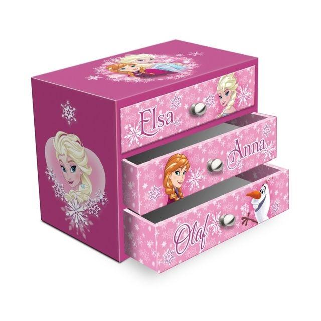 bo te bijoux 3 tiroirs la reine des neiges pas cher achat vente coffrets pr sentoirs. Black Bedroom Furniture Sets. Home Design Ideas