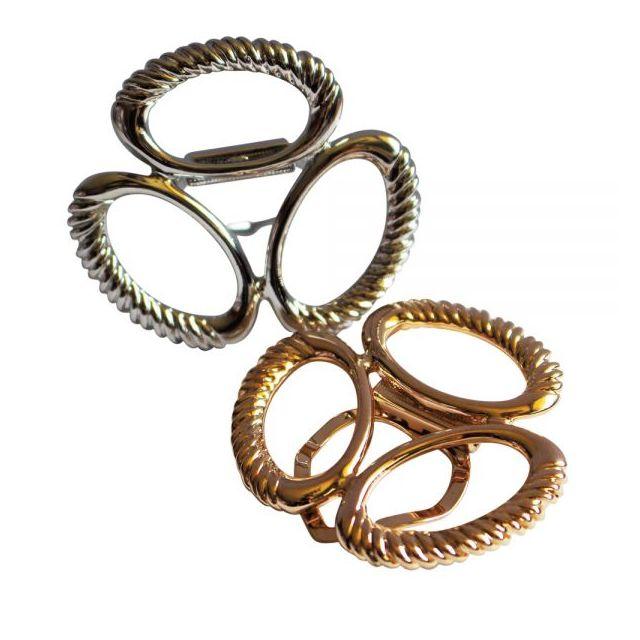 Objets du Mois - Boucle de foulard - lot de 2 - doré et argenté ... 57f0c9ec261