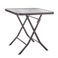 Table pliante verre - catalogue 2019 - [RueDuCommerce - Carrefour]