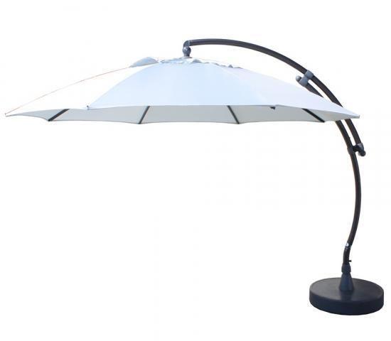 Easy Sun - Sun Garden Parasol déporté 375 Xl Olefin Gris Clair