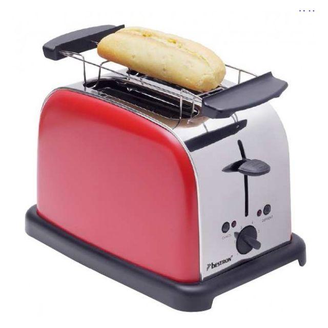 Bestron grille pains 2 fentes 1000w rouge dto3091 - Grille pain rouge pas cher ...