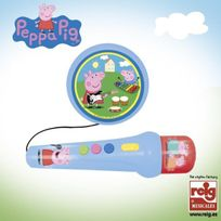Startrade - Peppa Pig Micro a Main avec Ampli et Rythmes