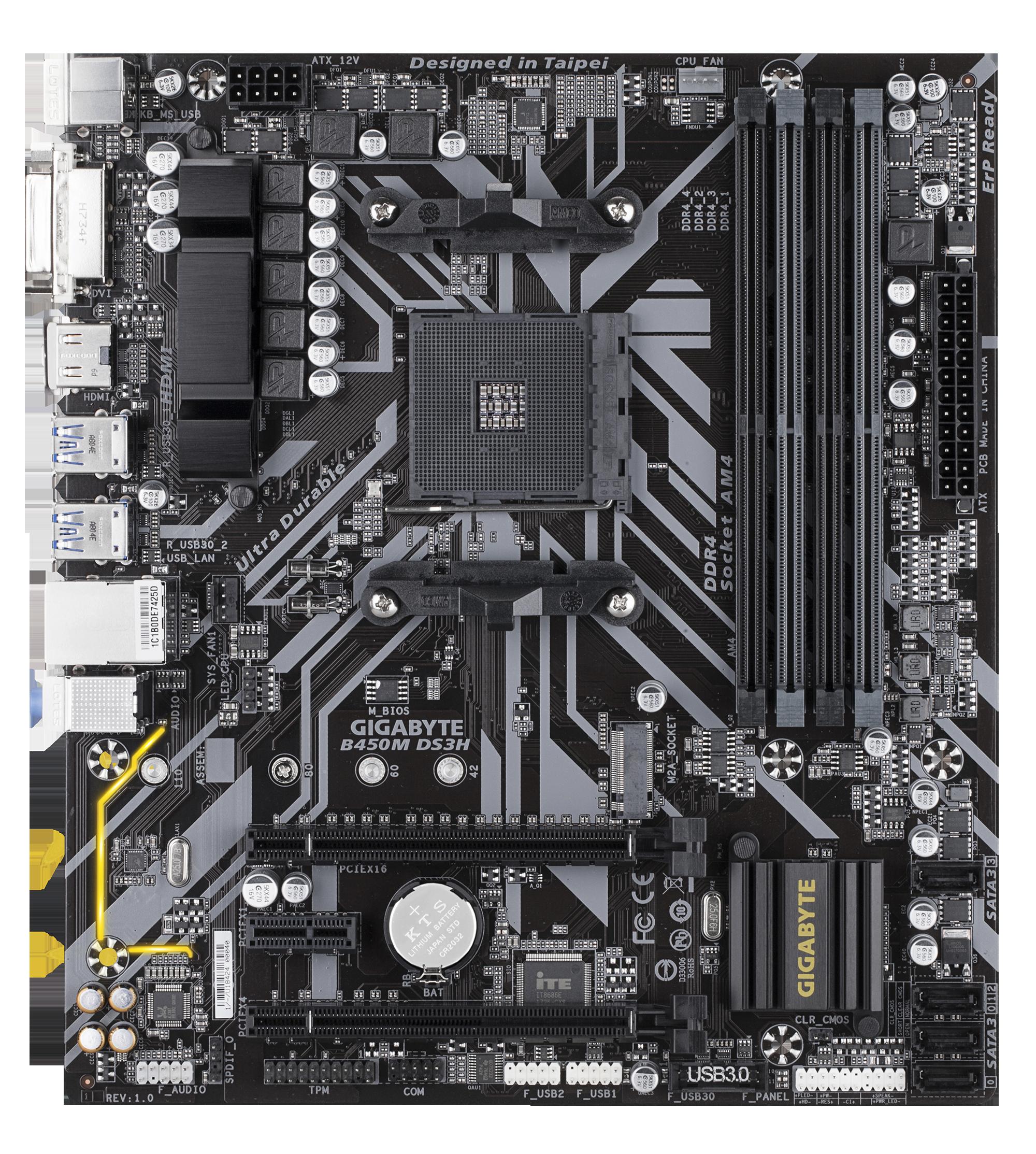 Carte mère AMD B450 DS3H Gigabyte