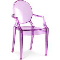 Privatefloor - Chaise Enfant Lou Lou Ghost - Philippe S. style - Polycarbonate Violet transparent