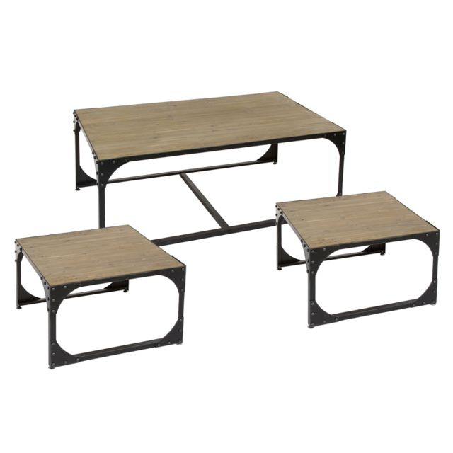 Santiago Pons Home Beauty Set Table d'appoint 3 unités. Toronto