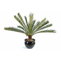 Artificielflower - Palmier artificiel Cycas géant 15 palmes - plante d intérieur - H.100 cm vert