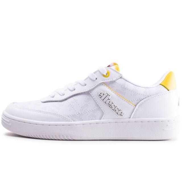 Ellesse Vinitziana blanche et jaune Chaussures Baskets