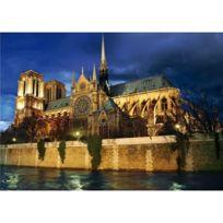 Dtoys - Puzzle 1000 pièces - Paysages nocturnes : Cathédrale Notre Dame de Paris