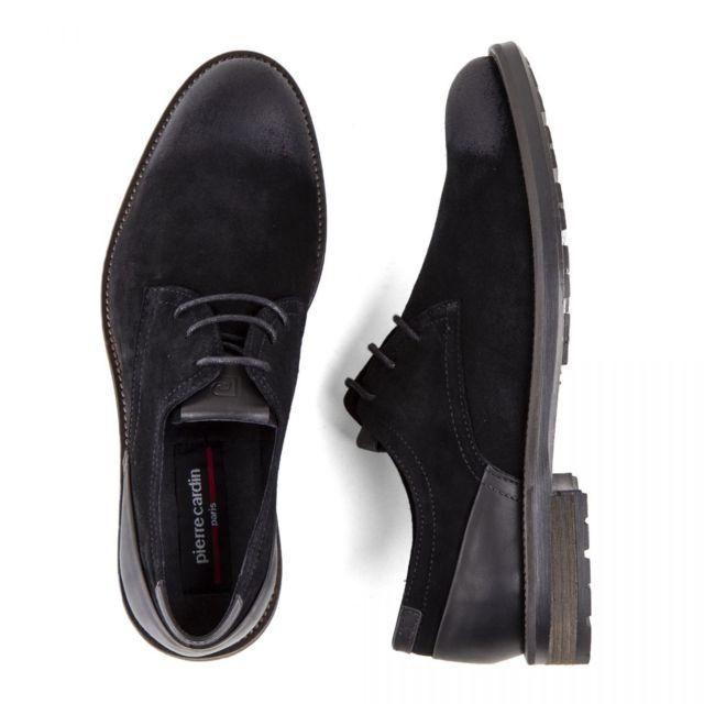 Chaussures derbies noires cuir retourné Gliss Homme
