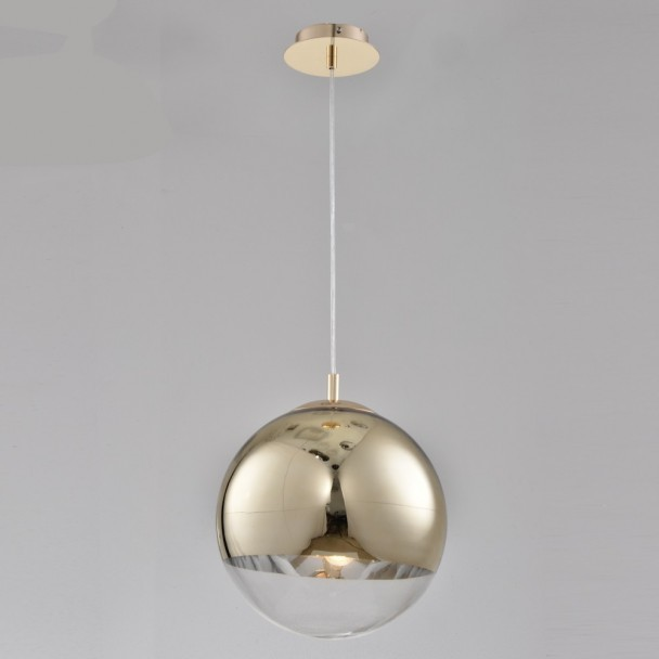 Suspension Globe verre doré